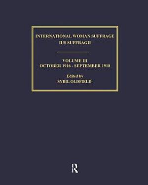 International Woman Suffrage  October 1918 September 1920 PDF