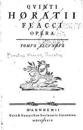 Quinti Horatii Flacci opera: Volume 2
