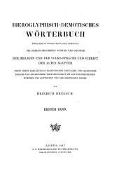 Dictionnaire hiéroglyphique et démotique