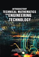 Introductory Technical Mathematics for Engineering Technology PDF