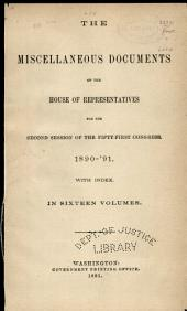 Reports from the Consuls of the United States. Vol. XXXIV. Nos. 120, 121, 122, and 123. Months: September, October, November, and December, 1890