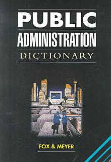 Public Administration Dictionary Book