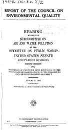 Hearings, Reports and Prints of the Senate Committee on Public Works