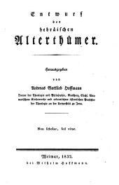 Entwurf der hebraischen Altherhumer