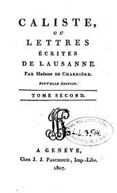 Caliste, ou lettres écrites de Laus: Volume2
