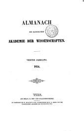 Almanach der kaiserlichen Akademie der Wissenschaften für das Jahr ...: Band 4