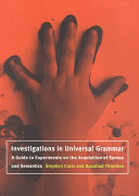 Investigations in Universal Grammar