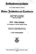 Hinrichs  Halbjahrs katalog der im deutschen Buchhandel erschienenen B  cher  Zeitschriften  Landkarten usw PDF