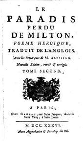 Le paradis perdu: poème héroïque. Tome second