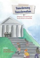 Transforming Transformation in Research and Teaching at South African Universities PDF
