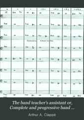 The Band Teacher's Assistant Or, Complete and Progressive Band Instructor: Comprising the Rudiments of Music, and Many Valuable Hints on Band Topics, with Charts Showing Compass of All Instruments ...; Also, a Condensed Score of a Series of Progressive Lessons, Scales, Chords and Exercises