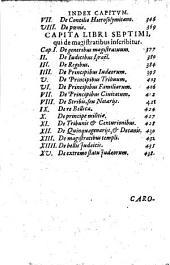 Caroli Sigonii De Rep. Hebraeorvm Libri VII: Ad Gregorivm XIII. Pontificem Maximvm : Index rerum et verborum locupletißimus
