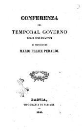Conferenza sul temporal governo degli ecclesiastici di monsignor Mario Felice Peraldi