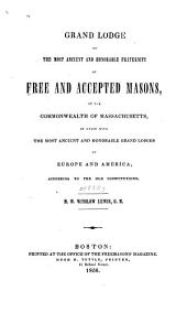 Proceedings of the Grand Lodge of the Most Ancient and Honorable Fraternity of Free and Accepted Masons of the Commonwealth of Massachusetts