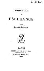 Consolation et espérance: keepsake religieux
