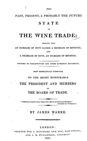 Past  Present   Probably the Future State of the Wine Trade     PDF