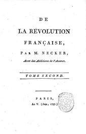 De la reuolution francaise, par m. Necker: 2