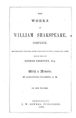 The Works of William Shakespeare  Complete PDF