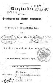 Marginalien zu den Grundsätzen der höheren Kriegskunst für die Generale der österreichischen Armee