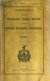 Annual Report of the Secretary of the Vermont Dairymen's Association for the Annual Meeting: Volume 19, Part 1889