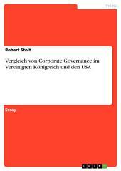 Vergleich von Corporate Governance im Vereinigten Königreich und den USA