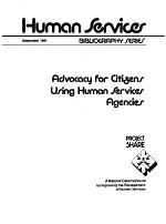 Advocacy for Citizens Using Human Services Agencies