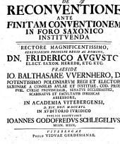 De reconventione ante finitam conventionem in foro Saxonico instituenda