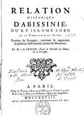 Relation historique d'Abissinie