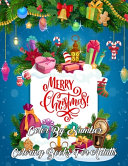 Merry Christmas Color By Number Coloring Books For Adults