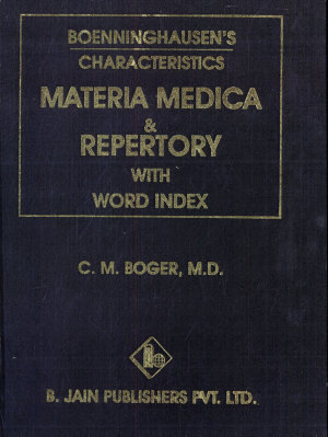 Boenninghausen s Characteristics Materia Medica   Repertory with Word Index PDF