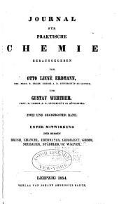 Journal für praktische Chemie: Band 62