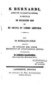 De diligendo deo et de gratia et libro arbitro
