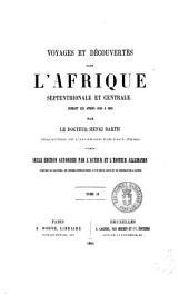 Voyages et découvertes dans l'Afrique septentrionale et centrale pendant les années 1849 à 1855 par le docteur Henri Barth: Volume4