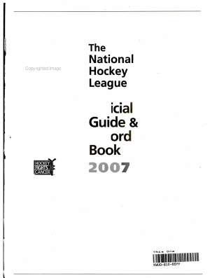 NHL Official Guide   Record Book 2007 PDF