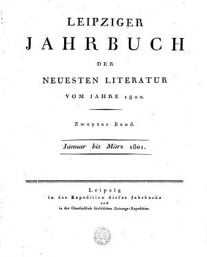 Leipziger Jahrbuch der neuesten literatur vom jahre 1800 PDF