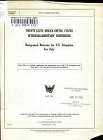 Twenty sixth Mexico United States Interparliamentary Conference PDF