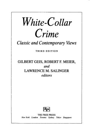 White Collar Crime PDF
