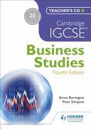 Cambridge IGCSE Business Studies 4th Edition Teacher s CD PDF