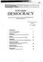 Towards Democracy PDF
