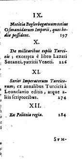 Turcici imperii status seu discursus varii de rebus turcarum