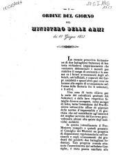 Ordine del giorno del Ministero delle Armi dei 10 giugno 1853