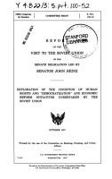 Report on the Visit to the Soviet Union of the Senate Delegation Led by Senator John Heinz PDF