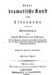 Über dramatische Kunst und Literatur: Bände 3-4