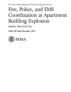 Fire, Police, and EMS Coordination at Apartment Building Explosion; Harlem, New York