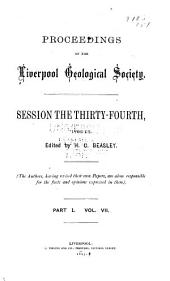 Proceedings of the Liverpool Geological Society: Volumes 7-8