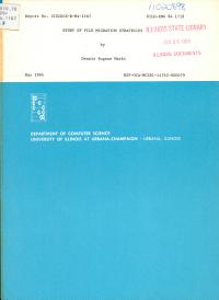 Study of File Migration Strategies PDF