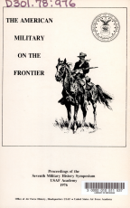 The American Military on the Frontier PDF