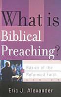 What Is Biblical Preaching  PDF