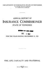 Annual Report of the Department of Insurance