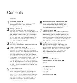 The Houses of Philip Johnson PDF